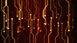 Abstract Technology Circuit Background Animation - Loop Red Stock Video Footage
