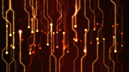 Abstract Technology Circuit Background Animation - Loop Red Animation