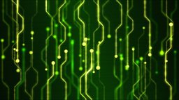 Abstract Technology Circuit Background Animation - Loop Green stock footage