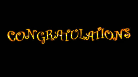 Congratulations (with Fireworks) Stock Video Footage