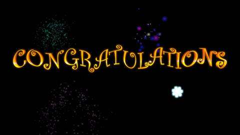 Congratulations (with Fireworks) Animation