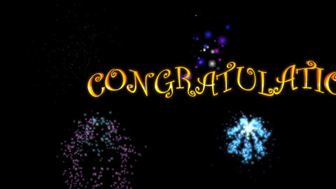Congratulations (with Fireworks)