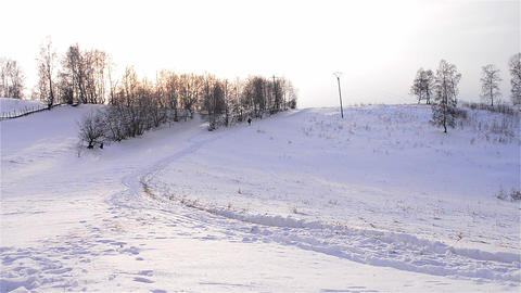 Winter landscapes 1d Stock Video Footage