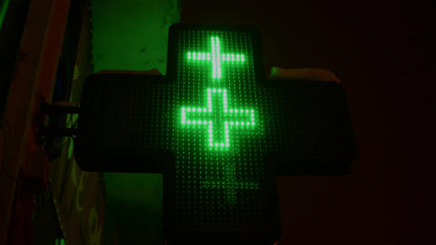 Green Cross 4 stock footage
