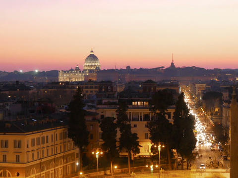 Piazza del Popolo. Rome, Italy. 640x480 Stock Video Footage