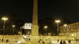 Piazza del Popolo. Egyptian obelisk. Rome, Italy -... Stock Video Footage