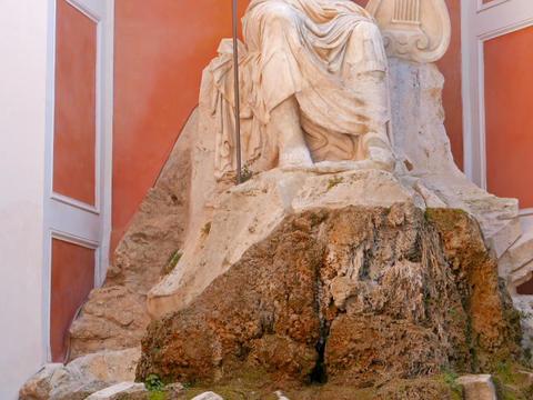 Fountain at Palazzo Barberini. Rome. Italy, Rome, Italy.... Stock Video Footage