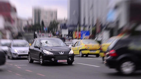 Traffic in city 27 Stock Video Footage