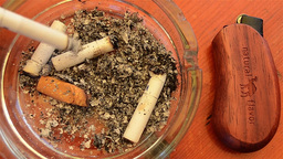 Cigarette in ashtray 3 Stock Video Footage
