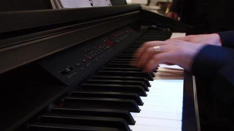 Pianist 2b Stock Video Footage
