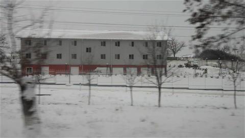 Snowy fields 2 Footage