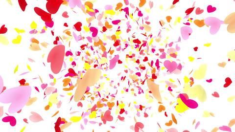 Heart petals pink front Aw 4k CG動画