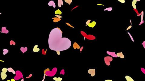 Heart petals pink tornado Ab 4k Stock Video Footage