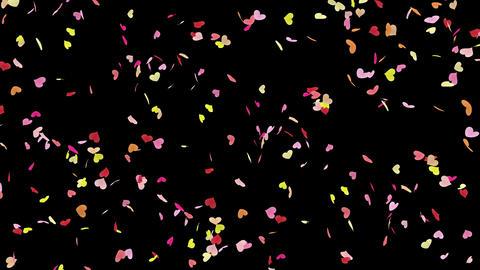 Heart petals pink tornado Ab 4k Animation