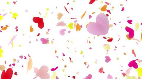 Heart petals pink tornado Bw 4k Stock Video Footage
