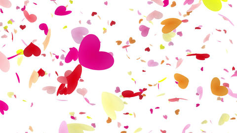 Heart petals pink tornado Bw 4k Animation