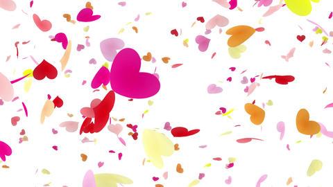 Heart petals pink tornado Dw 4k Animation