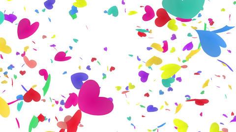 Heart petals rainbow tornado Bw 4k Animation