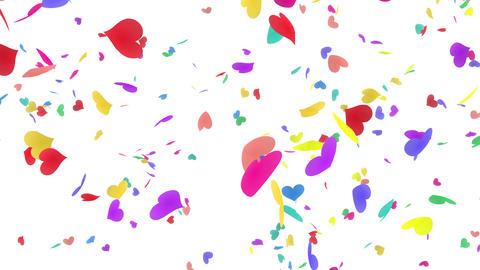 Heart petals rainbow tornado Bw 4k Stock Video Footage