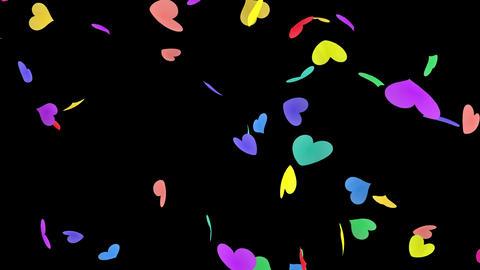 Heart petals rainbow tornado Bb 4k Stock Video Footage