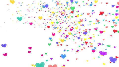 Heart petals rainbow tornado Ja 2 4k Animation