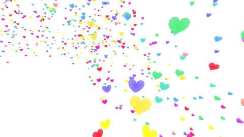 Heart petals rainbow tornado Jb 2 4k Stock Video Footage