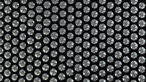 Loopable waving material with diamonds or gems. Alpha Stock Video Footage