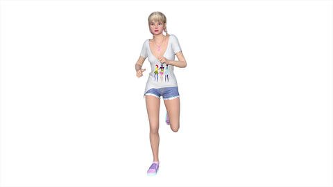 4k 走る女性 Stock Video Footage