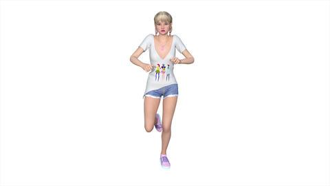 4k 走る女性 Animation