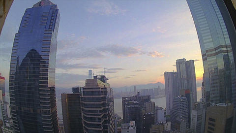 (Timelapse) Sunrise From Hong Kong Island stock footage