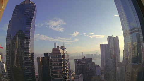 (Timelapse) Sunrise from Hong Kong Island Stock Video Footage