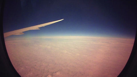 (Timelapse) Direct Flight From Denver to Tokyo Window Stock Video Footage