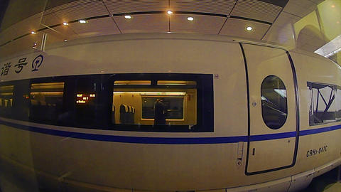 (Timelapse) High Speed Train in China to Beijing Stock Video Footage