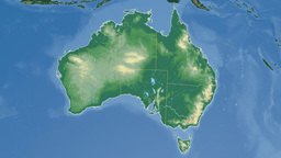 New South Wales extruded. Bumps shaded Stock Video Footage