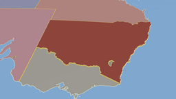 New South Wales extruded. Solids Animation