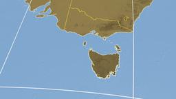 Tasmania extruded. Bumps Stock Video Footage