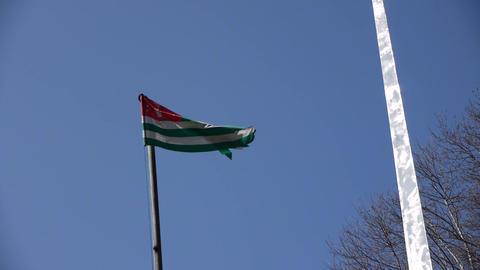 Flag of Abkhazia Republic Stock Video Footage