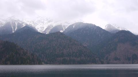 Lake Ritsa in Early Spring Stock Video Footage