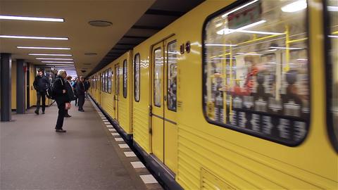 Berlin Underground stock footage
