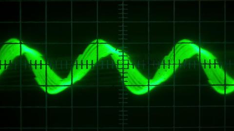 Old Oscilloscope stock footage