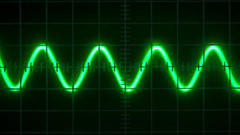 Old oscilloscope Footage