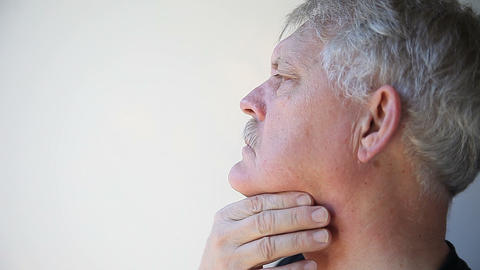 man with throat pain Stock Video Footage
