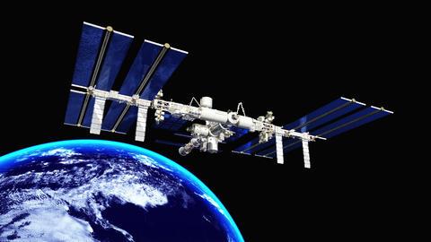 4k 宇宙ステーション Animation