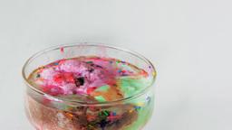Backward Timelapse Of Icecream In A Glass stock footage