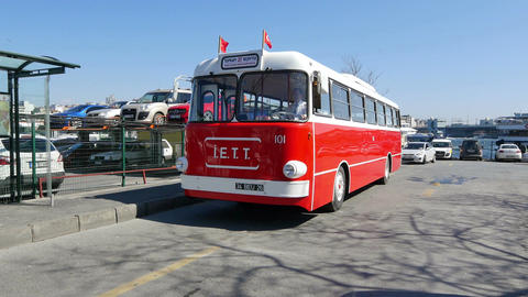Renault-Scemia labeled tram operated in Istanbul till 1942 Stock Video Footage