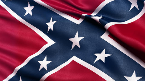 Confederate flag seamless loop Ultra-HD Stock Video Footage