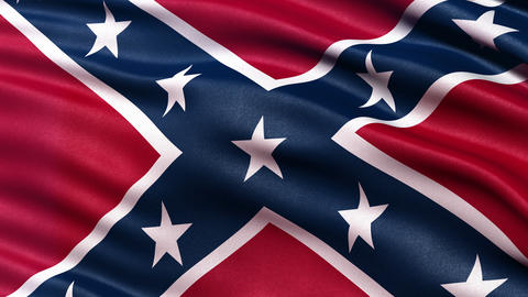 Confederate flag seamless loop Ultra-HD Animation