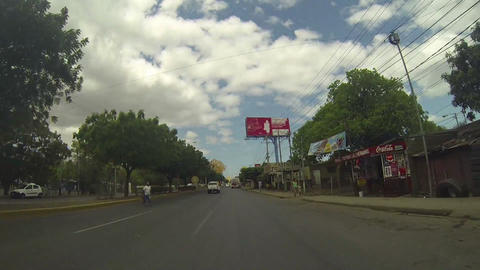 MANAGUA, NICARAGUA - MAR 10, 2015: North Highway Managua, the main highway that  Live Action