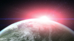 Earth Flare stock footage