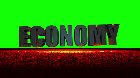 Economy Meltdown (Green Screen) Stock Video Footage